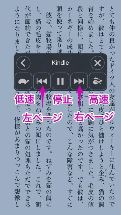 操作パネルが表示されると同時に、音声読み上げが開始
